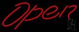 Script Open Neon Sign