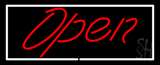 Script Open WR Neon Sign