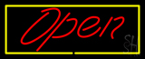Script Open YR Neon Sign