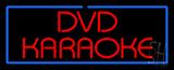 Red DVD Karaoke Blue Border Neon Sign