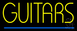 Yellow Guitars Blue Line Neon Sign