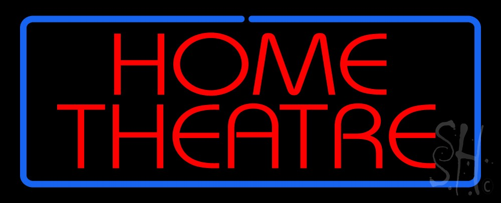 home theater neon sign custom home improvement neon signs every thing neon. Black Bedroom Furniture Sets. Home Design Ideas