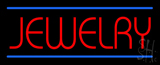 Jewelry Blue Lines Neon Sign