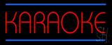 Karaoke Blue Double Line Neon Sign