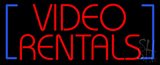 Video Rentals Neon Sign