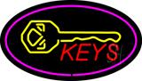 Keys Logo Oval Purple Neon Sign