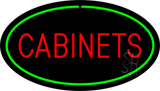 Cabinets Oval Green Neon Sign