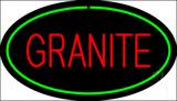 Granite Oval Green Neon Sign