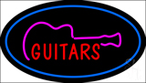 Guitars Oval Blue Neon Sign
