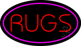 Rugs Oval Purple Neon Sign