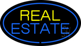 Oval Real Estate Neon Sign