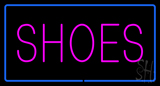 Shoes Rectangle Blue Neon Sign