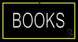 Books Yellow Border Neon Sign