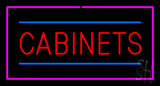Cabinets Rectangle Purple Neon Sign