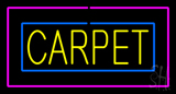 Carpet Rectangle Purple Neon Sign