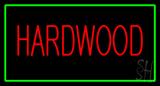 Hardwood Rectangle Green Neon Sign
