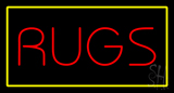 Rugs Rectangle Yellow Neon Sign