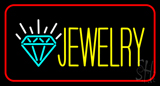 Jewelry with Red Border Neon Sign