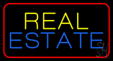 Real Estate Red Border  Neon Sign