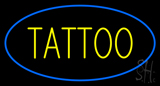 Oval Tattoo Blue Border Neon Sign