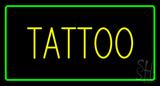 Yellow Tattoo Green Border Neon Sign