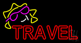Double Stroke Red Travel Neon Sign