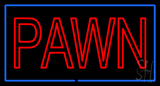 Double Stroke Pawn Blue Border Neon Sign