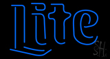 Miller Lite Word Small Beer Neon Sign