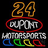 24 Jeff Gordon Dupont Motorsports Neon Sign