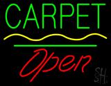 Carpet Script1 Open White Line Neon Sign
