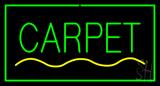 Carpet Rectangle Green Neon Sign