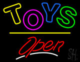 Toys Open Yellow Line Neon Sign