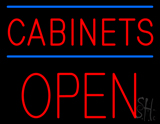 Cabinets Block Open Neon Sign