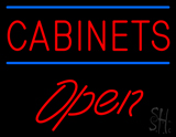 Cabinets Script1 Open Neon Sign