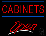 Cabinets Script2 Open Neon Sign