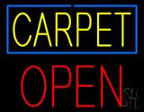 Carpet Block Open Neon Sign