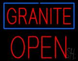 Granite Block Open Neon Sign