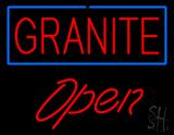Granite Script1 Open Neon Sign