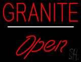 Granite Script1 Open White Line Neon Sign