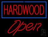Hardwood Script1 Open Neon Sign