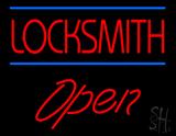 Locksmith Script1 Open Neon Sign