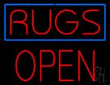 Rugs Block Open Neon Sign