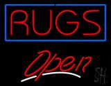 Rugs Script2 Open Neon Sign