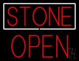 Stone Block Open Neon Sign