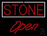 Stone Script1 Open Neon Sign