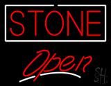 Stone Script2 Open Neon Sign