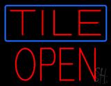 Tile Block Open Neon Sign