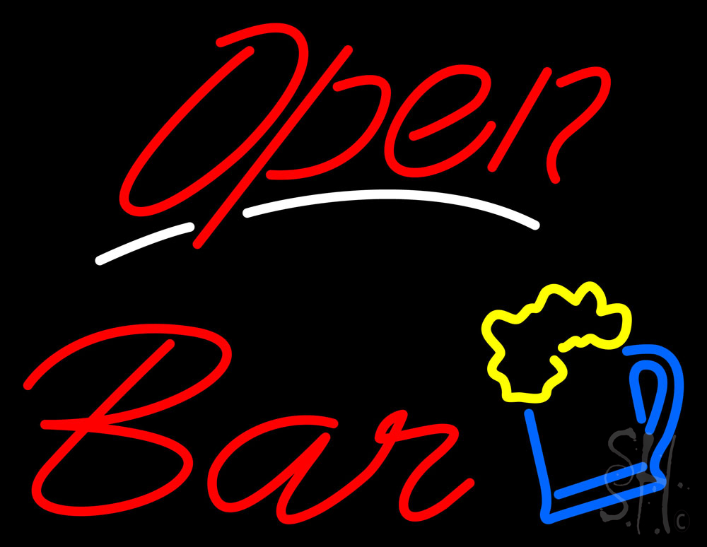 Open Bar Neon Sign|Bar Open Neon Signs- Every Thing Neon