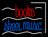 Books Sheet Music Neon Sign