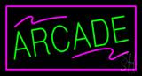Arcade Rectangle Purple Neon Sign